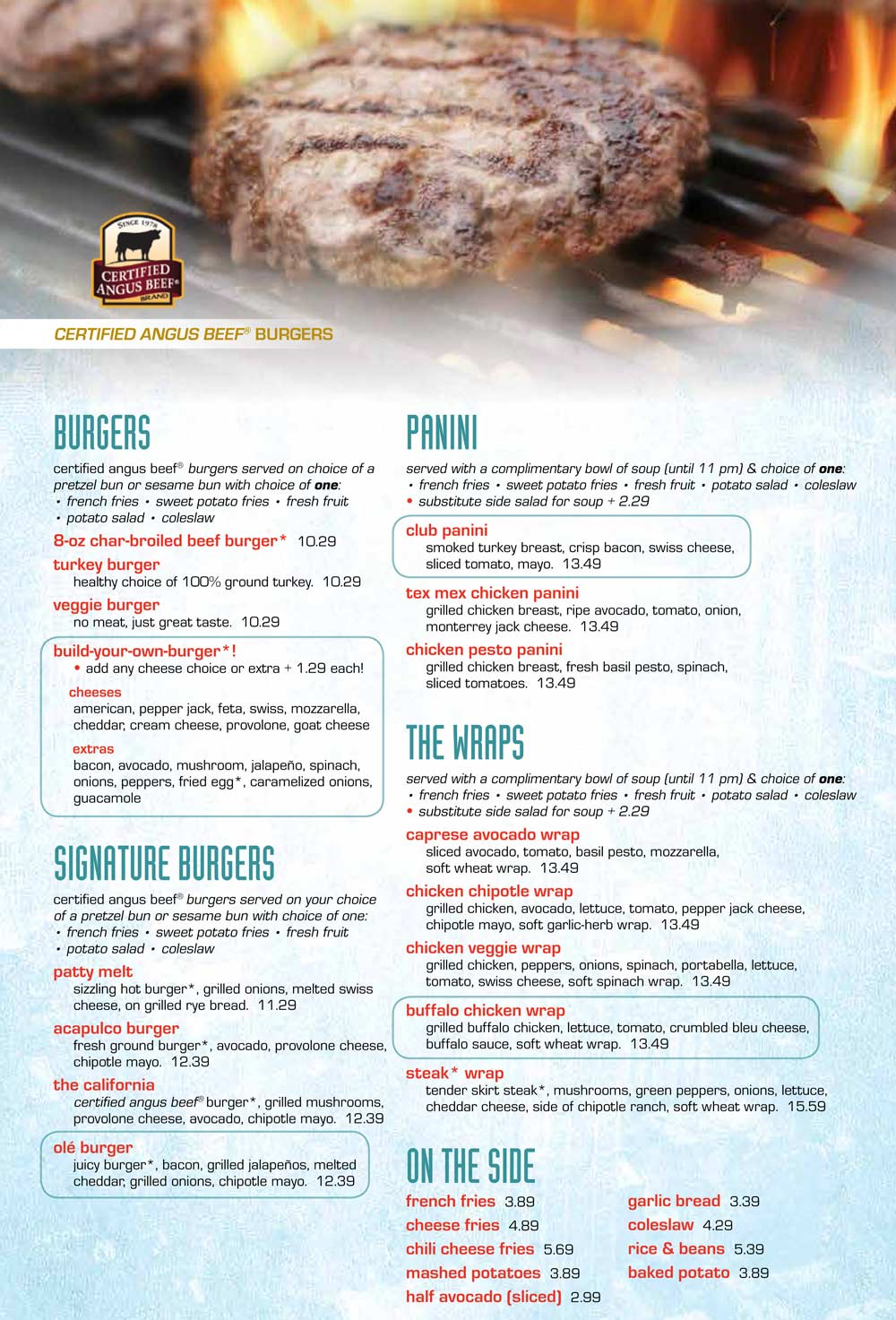 Griddle 24 Menu | Griddle 24